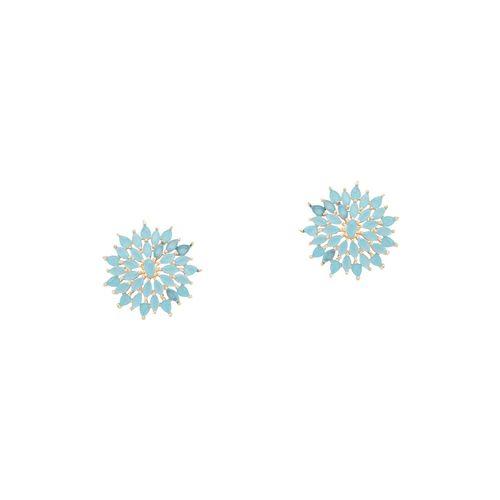 Globus blue metal studs earring