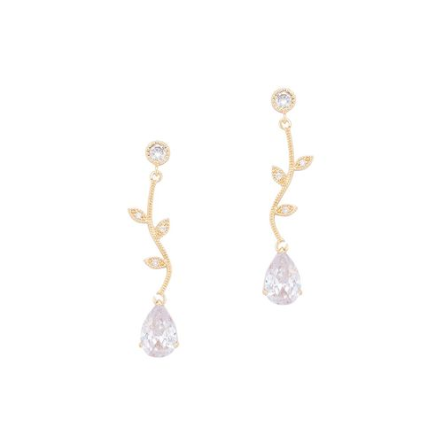 Globus gold metal drop earring