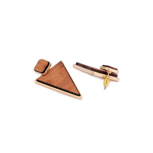 Globus brown metal studs earring