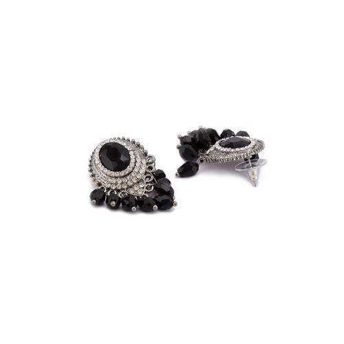 Globus black metal studs earring