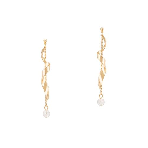 Globus gold metal drop earring