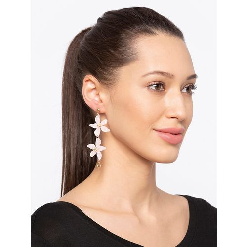 Globus pink metal drop earring