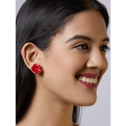 Pipa Bella red studs earring