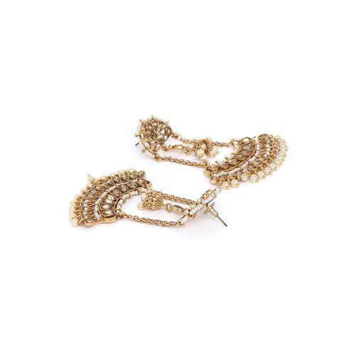 Panash gold brass drop earring