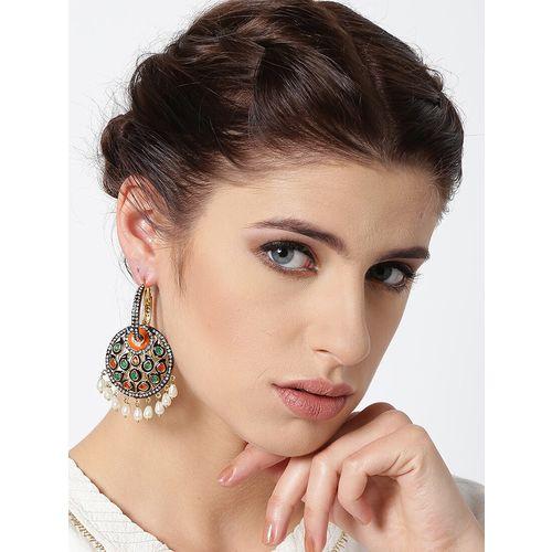Panash multi colored metal hoop earring