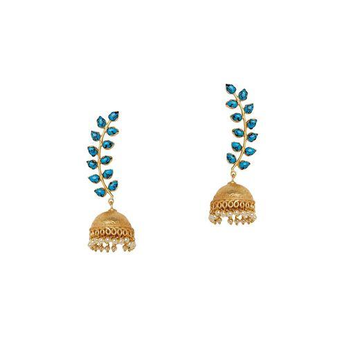 Panash blue metal jhumka earring