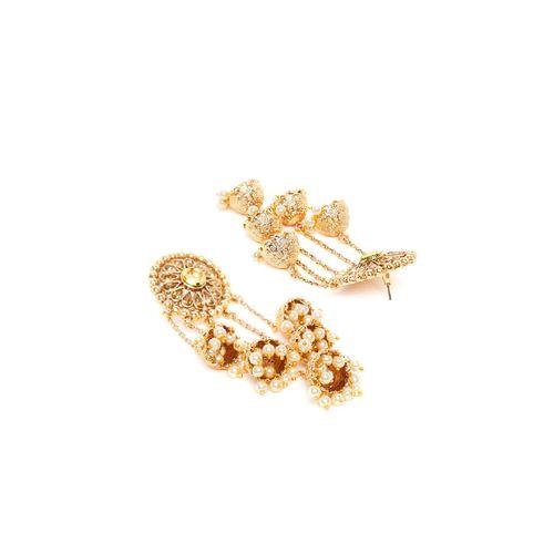 Panash gold metal jhumka earring