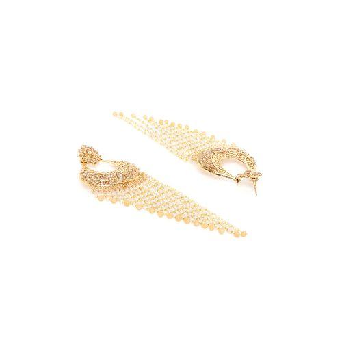 Panash gold brass chandballi earring