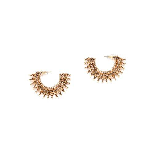 Panash gold brass hoop earring