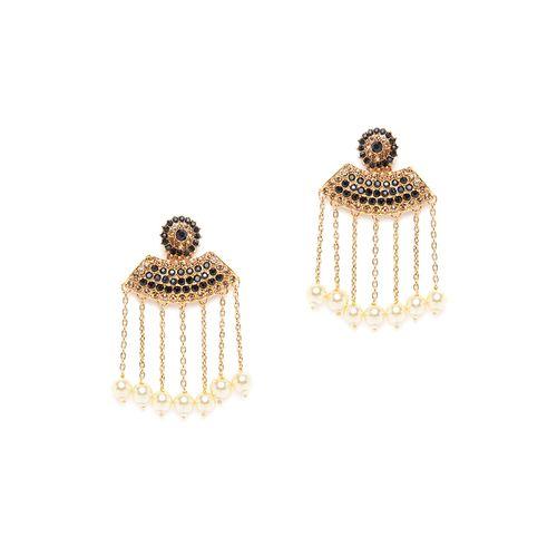 Panash black brass drop earring