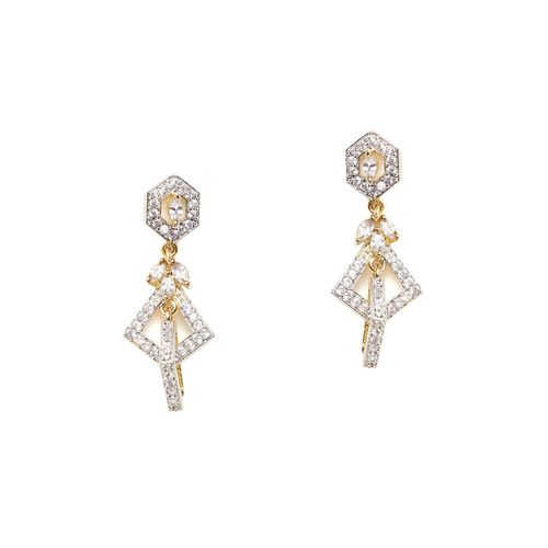ZeroKaata gold metal drop earring