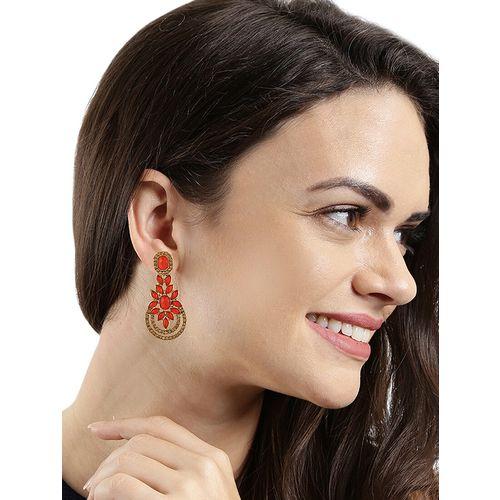Kord Store red brass drop earring