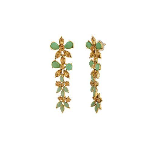 Kord Store green brass drop earring