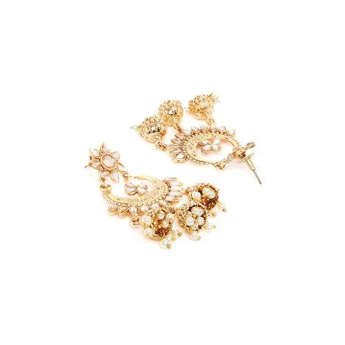 Panash gold brass jhumka earring