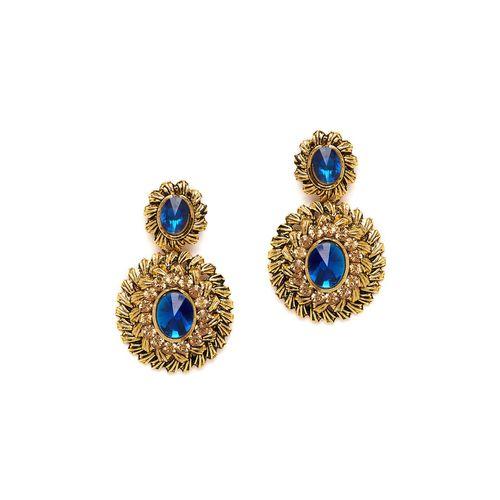 ZeroKaata blue metal drop earring