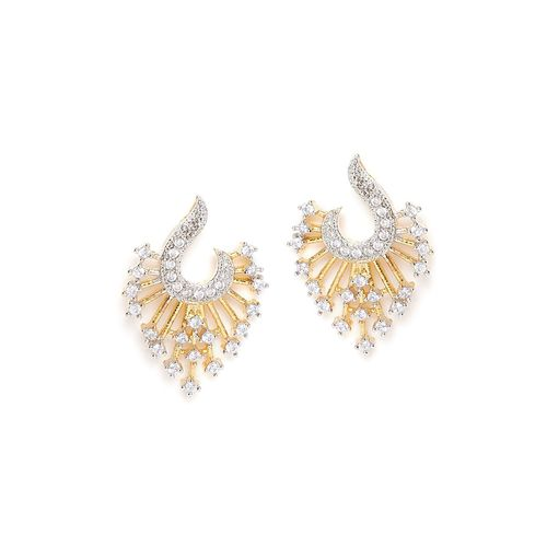 ZeroKaata gold metal drop earring