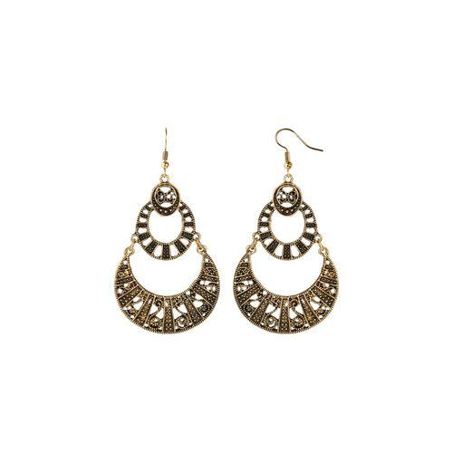 Silver Shine gold metal drop earring
