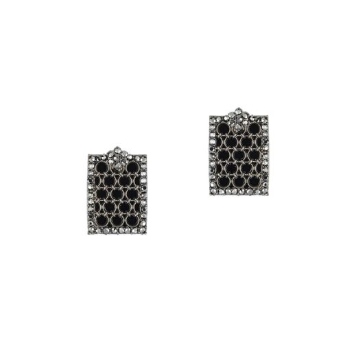 E2O black brass studs earring
