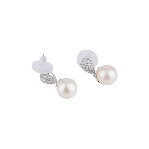 E2O silver metal drop earring