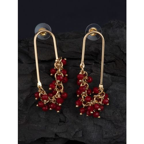 E2O red metal drop earring