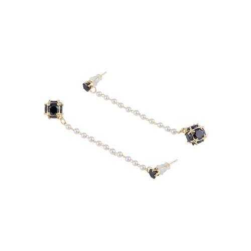 E2O black metal drop earring