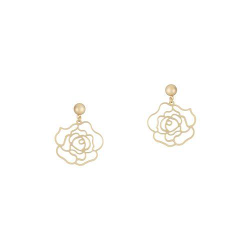 E2O gold metal drop earring