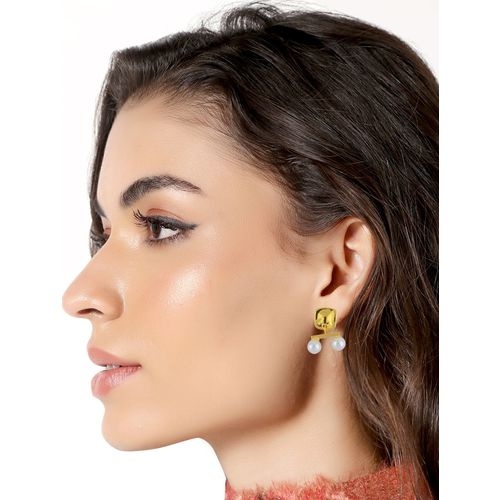 E2O gold metal studs earring