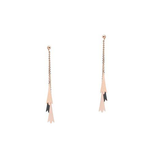 Kiyara black gold plated drop earring