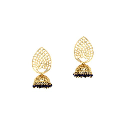Anetra blue gold tone beaded earrings