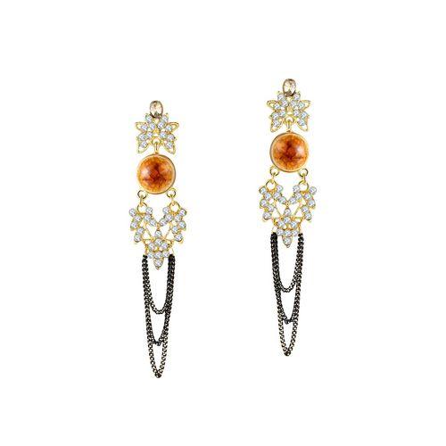 Jewels Galaxy multi colored copper drop earrings
