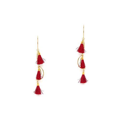 Globox red metal drop earring