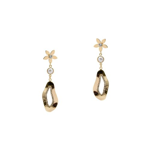 Kiyara gold tone drop earring