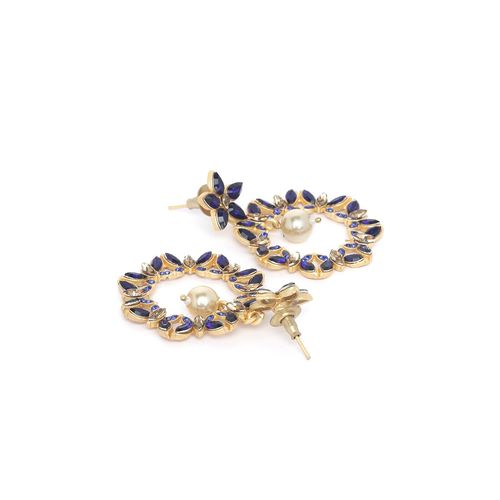 Panash blue brass drop earring