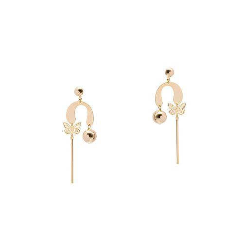 Kiyara gold tone drop earring