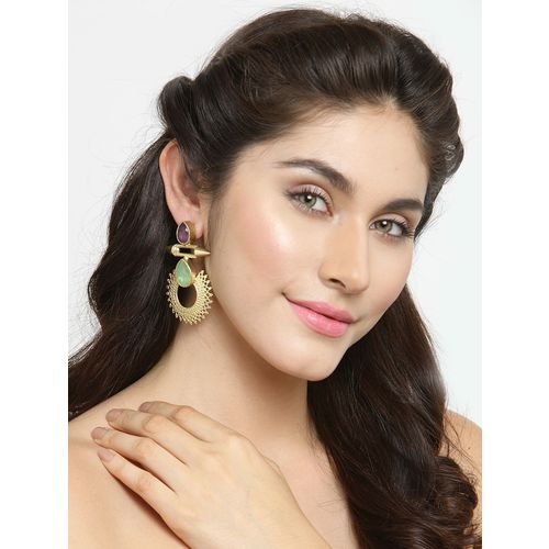 Diva Walk gold tone stone earrings