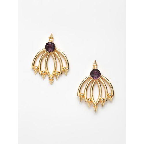 Diva Walk purple gold tone stone earrings