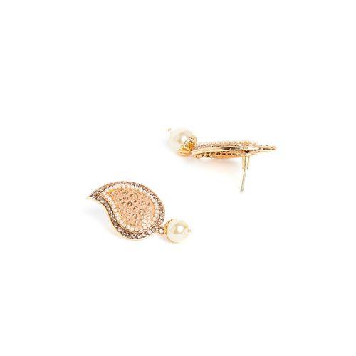 Panash gold metal drop earring