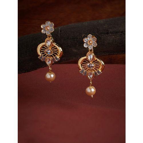 Panash white metal drop earring