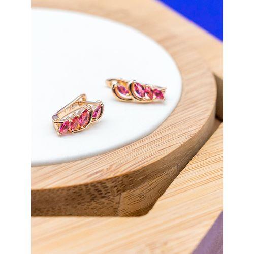 Kiyara red gold plated drop earring