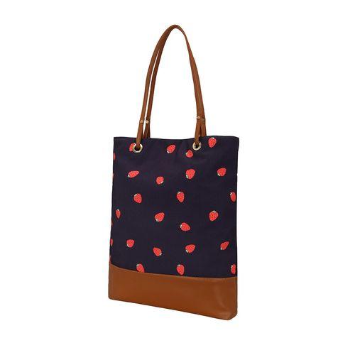 Kleio blue canvas regular shopping bag