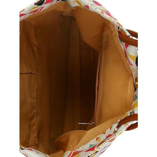 Kleio white canvas regular shopping bag