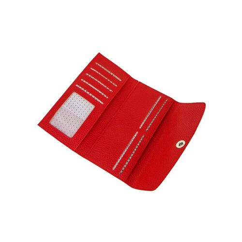 Kleio red leatherette wallet