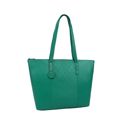 Toteteca green leatherette (pu) regular handbag