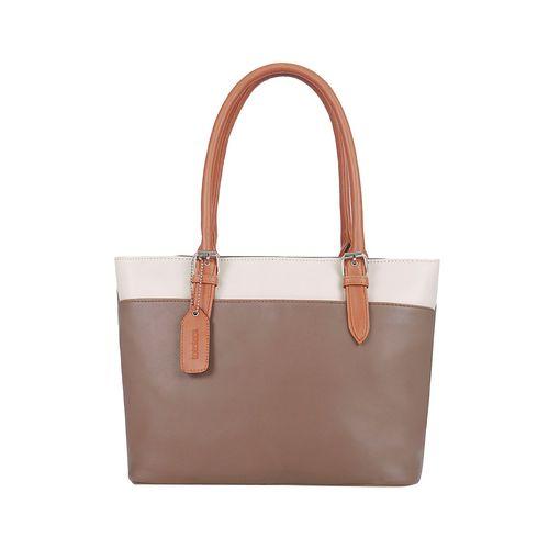 Toteteca tan leatherette (pu) regular handbag