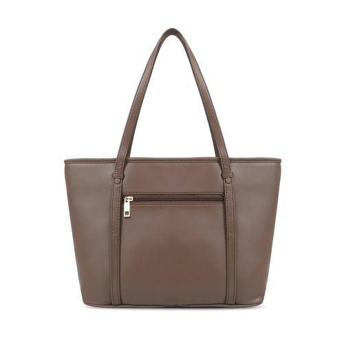 Toteteca brown leatherette regular handbag