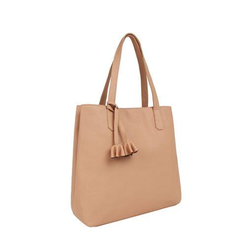 Toteteca peach leatherette regular handbag