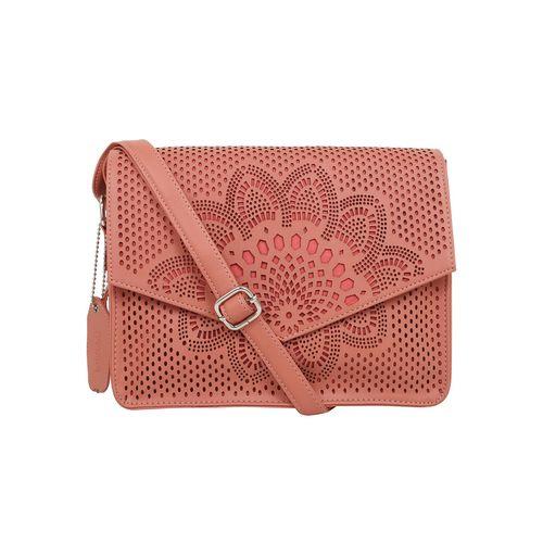 Toteteca pink leatherette regular sling bag