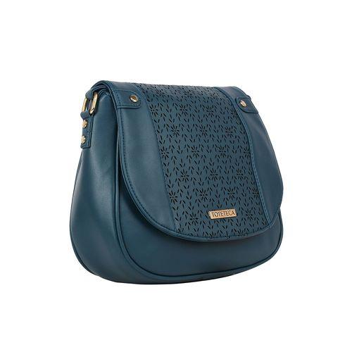 Toteteca blue leatherette (pu) regular sling bag