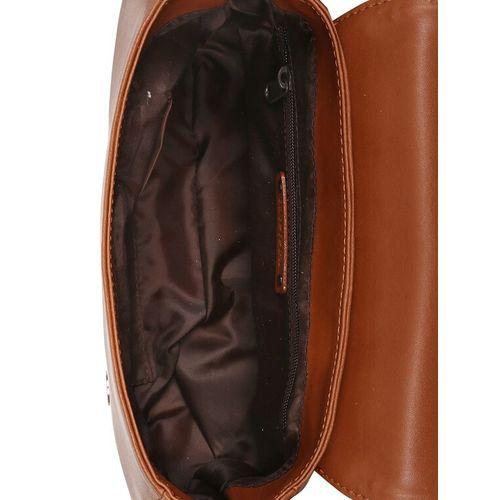 Toteteca tan leatherette (pu) regular sling bag