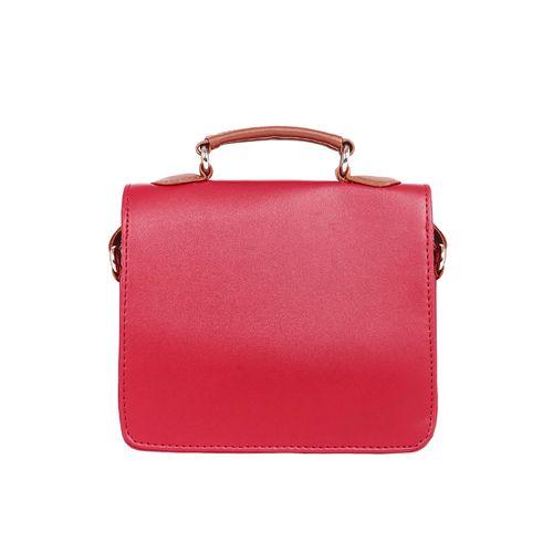 Toteteca red leatherette (pu) regular sling bag